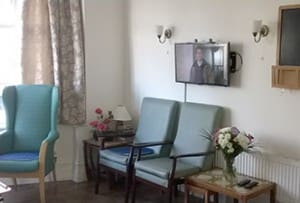 Residential care home lounge