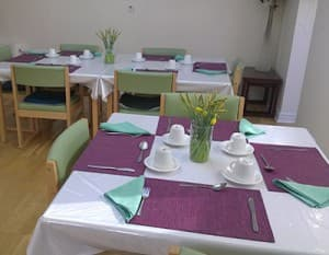 Care home dining area